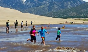 Great Sand Dunes Medano Creek 4K Video 4K photo
